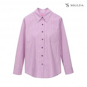 에스쏠레지아 스트라이프 셔츠 SOL3WBL600 이미지