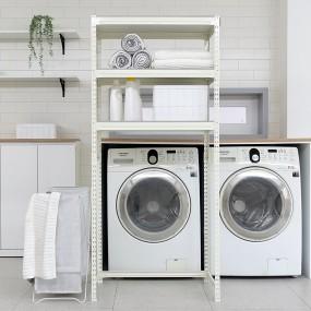 [그린루프트] 이지랙 세탁기 건조기 선반 3단 이미지