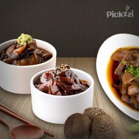 [픽찌]송화버섯 실속장아찌 유리병 (고추장) + 파우치 (간장 / 와사비) 이미지