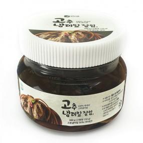 [알찬] 맛있는 반찬 알찬 국내산 고추냉이잎절임 300 g 이미지