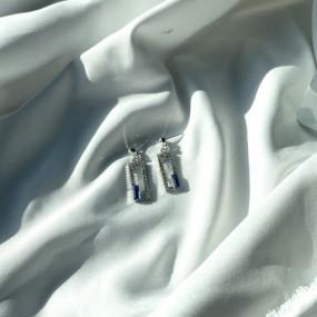 나비스트 스와로브스키 스퀘어 프레임 귀걸이 이미지