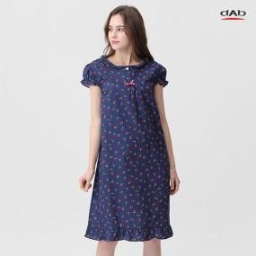 [댑] 체리캡소매 잠옷 원피스_GPJ17065 네이비 이미지
