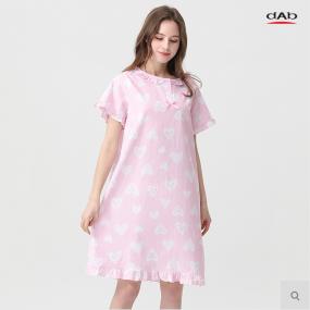 [댑] 핑크하트 잠옷 원피스_GPJ17063 이미지