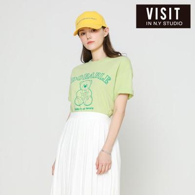 [VISIT IN NEWYORK]  베어 프린팅 티셔츠 VX4STE1