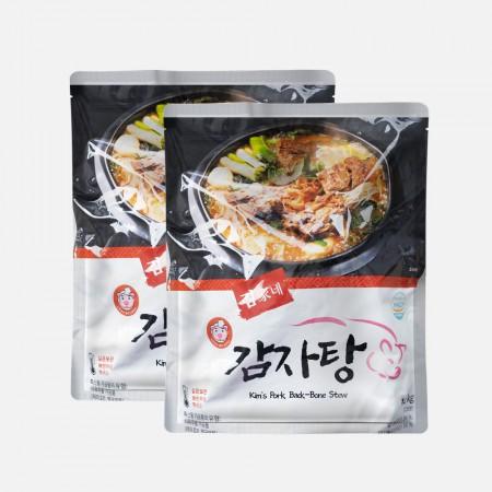 [미미의 밥상] 김가네 감자탕 1.2kg(2인분)*2팩/국내산 등뼈 100% 이미지