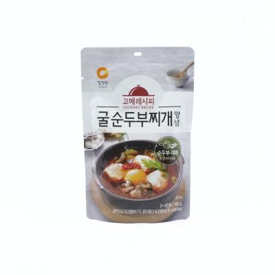 [아자마트]청정원 고메레시피 굴순두부찌개양념 140g