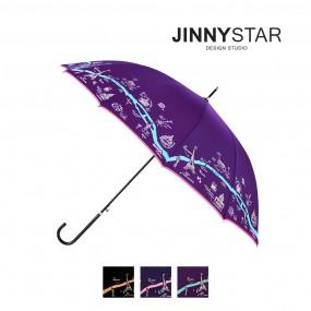 지니스타 파리지도 슬림 장우산 이미지