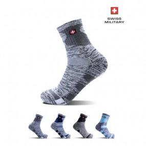 [스위스밀리터리]SM-R08 남성 등산 안전 중목 양말1+1 이미지