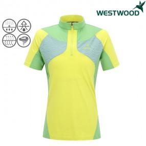 [웨스트우드] 컬러블럭배색 여자 티셔츠(WF2WMTS392) 이미지