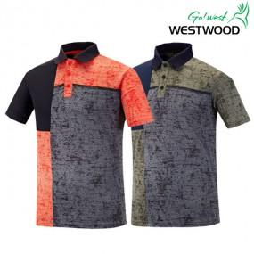 [웨스트우드] 남성- 컬러블록 배색 요꼬 티셔츠(WG2MCTP379) 이미지