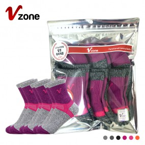 폴턴 V존 여성 등산 중목 양말 PVC 3족 세트 이미지