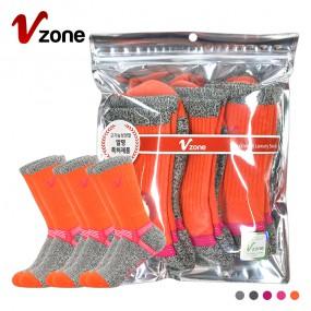 폴턴 V존 여성 등산 장목 양말 PVC 3족 세트 이미지