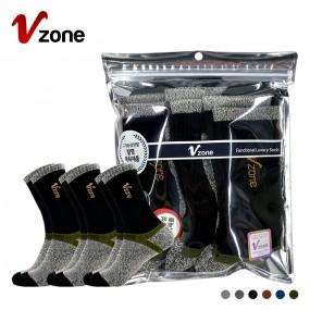폴턴 V존 남성 등산 장목 양말 PVC 3족 세트 이미지