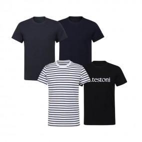 [아테스토니] 남여 공용 베이직 언더셔츠 4종 B PACK 최신상 이미지