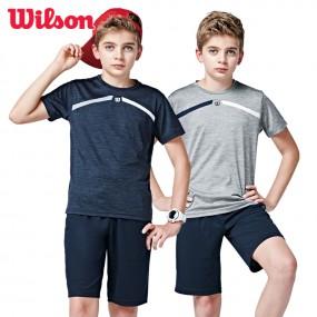 윌슨 아동 2종세트 반팔티+7부바지 기능성 이미지