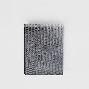 보닌 천연소가죽 유니크 크록 컴팩트 미니반지갑 CPL062DGR 이미지