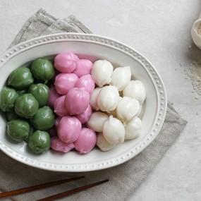 [미미의 밥상] 굳지않는 고소미 꿀떡(삼색) 1kg+1kg 이미지