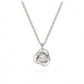 [로안] 트리온 천연 다이아몬드 실버 목걸이 S3301/SILVER 925/고급케이스 이미지