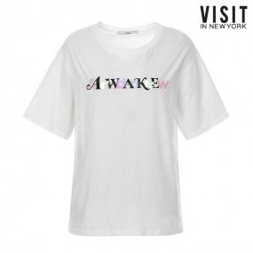 [비지트인뉴욕] 컬러 레터링 티셔츠 VV6STA7 이미지