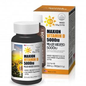 [어바틀] 햇빛 노출이 적은 현대인들의 골다공증발생 위험을 감소시키는 맥시온비타민D 5000IU_90캡슐 이미지