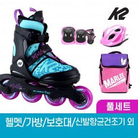 K2 정품 마리 프로 오션 어린이 아동 인라인 스케이트+가방+보호대+헬멧+신발항균건조기 휠커버 외 이미지