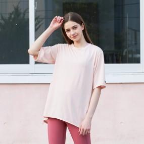 CLWT8080 오픈 백 티셔츠 핑크 이미지