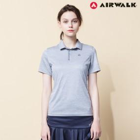 에어워크 여성 카라 반팔 티셔츠 9024 L그레이 단체복 이미지