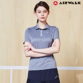 에어워크 여성 카라 반팔 티셔츠 9022 그레이 단체복 이미지