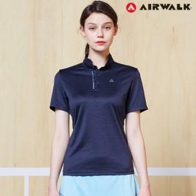 에어워크 여성 카라 반팔 티셔츠 9004 네이비 단체복 이미지