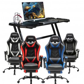 [정오의 특가]ROZI 게이밍 체어 / 데스크 3종 모음 PC방 의자 책상  GP-866 / GP-888 / Desk-116 이미지