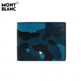 [Montblanc] 토리얼 4cc 머니클립 반지갑(블루 카모플라쥬)  _ 118676 이미지