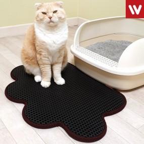 발 모양 고양이 모래 매트 / 사막화 방지 /화장실매트 이미지