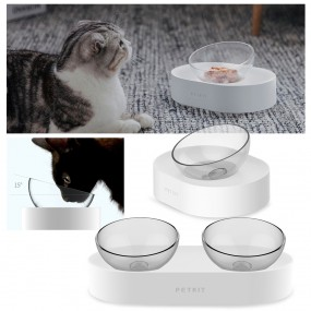 펫킷 프레쉬나노 각도조절 강아지 고양이 식기 1구 / 2구 / 애견식기 이미지