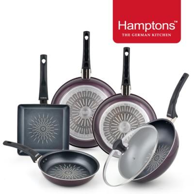 [Hamptons] 햄튼 와인 티타늄 인덕션 후라이팬 6종세트 HTW-T2688WGS