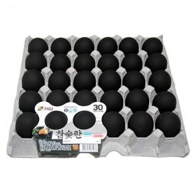 [흑(黑)란]간이 되어 있는 숯 코팅 구운계란 30개(한판) 이미지