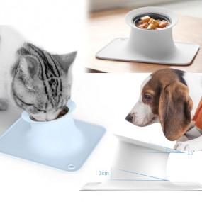 허글 펫킷 강아지 고양이 실리콘식기 / 15도 기울기 / 캔홀더 기능 이미지