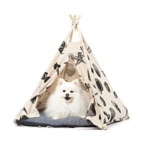 스니프 씨쉘헛 강아지 텐트 (방석포함) / 인디언텐트형 / 강아지집 이미지