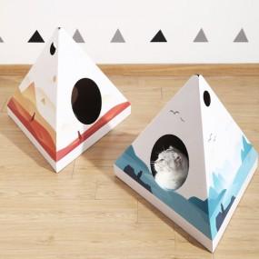 허글 펫킷 고양이 스크래처 하우스 / 고양이집 / 숨숨집 이미지