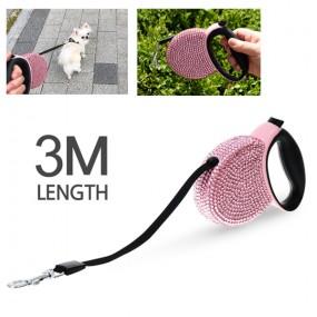 모던펫 강아지 다이아몬드 자동줄 3m (테이프형) / 강아지목줄 이미지
