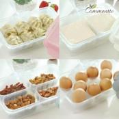 [꼬망뜨] BPA Free 국내생산 요리조리 보관용기 4종세트 (냉동/냉장고정리/전자레인지/식기세척기) 이미지