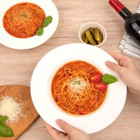 [천안심야식당] 파스타맛집 육즙가득 고기듬뿍 수제 볼로네제 파스타 280g×2세트 (2인분) 레토르트식품/간편조리식/밀키트/홈파티/냉동 이미지