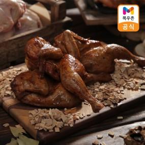 [아라쇼X목우촌]목우촌 국내산 훈제치킨 반마리 210g 16팩/8팩 (매콤한맛+흑마늘맛) 이미지