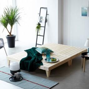 소나무 원목 침대 Q (마루형) OT065 이미지