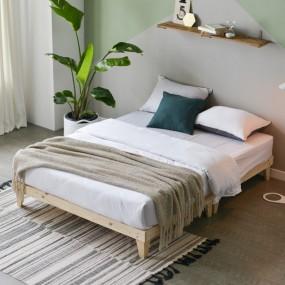 마루형 원목 침대 Q (포켓라텍스매트) OT065 이미지