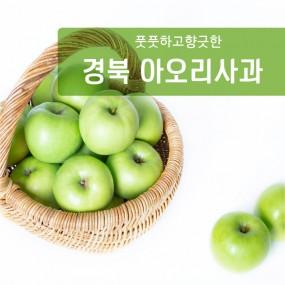 [과일친구]풋풋!!향긋!!여름을느껴라~ 의성 초록사과 3kg(소과,중과,대과) 이미지