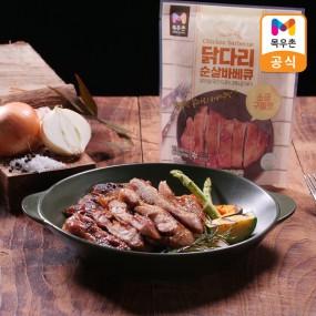 [아라쇼X목우촌]목우촌 국내산 닭다리살 순살바베큐 110g 16팩 / 8팩(매콤한맛+소금구이맛) 이미지