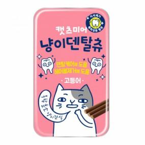 냥이덴탈츄 고양이 덴탈케어 헤어볼케어 간식 고등어맛 스틱형 이미지