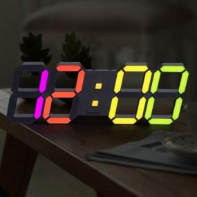 국산 루나리스 3D LED 인테리어 벽시계 레인보우 LG전구 38cm 이미지