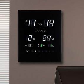국산 루나리스 GPS수신 리치 온습도 LED 전자벽시계 이미지