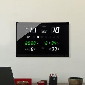 국산 루나리스 GPS수신 매직 온습도 LED 전자벽시계 이미지